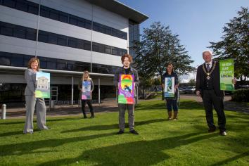 New town centre banners unveiled in Dungiven and Limavady