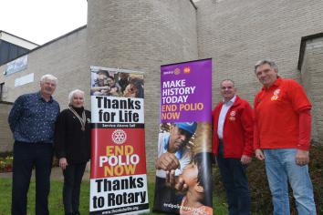 Limavady Council lights-up 'Purple for Polio'