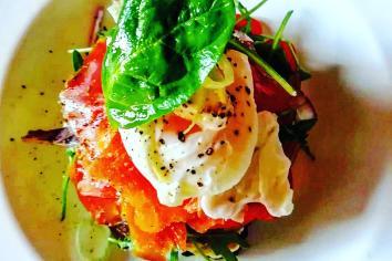 PAUL WATTERS: Smoked salmon and potato pancake
