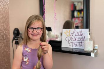 Little Princess Ruby's chop for charity