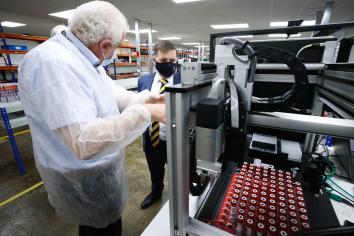 Health Minister visits Randox testing labs