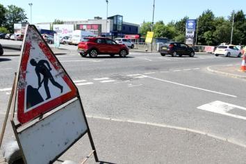 Road works cause major traffic disruption